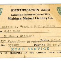 Image of Automobile Insurance Card -