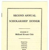 Image of Midland Kiwanis Club Scholarship Dinner Program -
