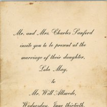 Image of Wedding Invitation from the Sanford's