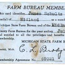 Image of Farm Bureau Membership Card -