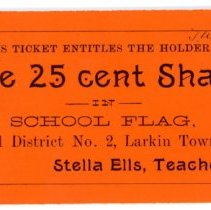 Image of Larkin Township School Flag Ticket -
