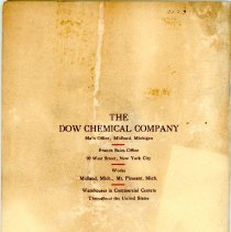 Image of Dow Chemical Co. Catalog - Back Cover