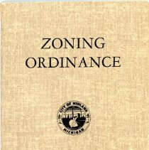 Image of City of Midland Zoning Ordinance - Front Cover