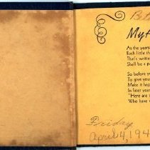 Image of Autograph Book of Betty Baker - Inside Front Cover