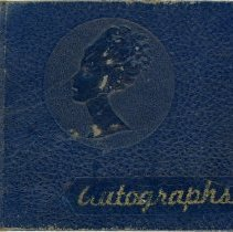 Image of Autograph Book of Betty Baker - Front Cover