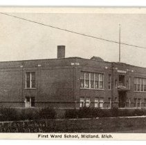 Image of Education - First Ward School in Midland