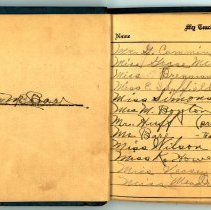 Image of Helen M. Barr's Autograph book - First few Pages