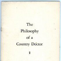 Image of The Philosophy of a Country Doctor by Dr. Shark - Front Cover