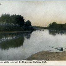 Image of River scene - Tittabawassee River at Chippewa River mouth