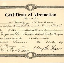Image of Certificate of Promotion -