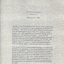 Image of Boy Scouts of America Letter from President Nixon
