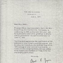 Image of 2011.02.05 - Letter to Mrs. Alan (Anna) Babin from President Richard Nixon