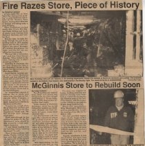 Image of McGinnis Hardware Fire