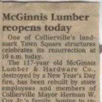 Image of McGinnis Lumber Reopens