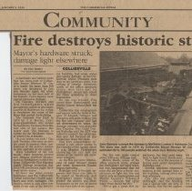 Image of McGinnis Hardware Fire 01-03-1996