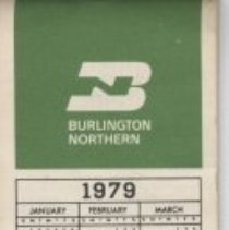 Image of Burlington Northern Railroad notepad