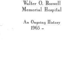 Image of Book - Walter O. Boswell Memorial Hospital