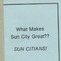 Image of What Makes Sun City Great?  SUN CITIANS!