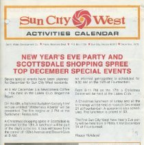 Image of Sun City West Activities Calendar