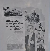 "Image of Poster - Advertisement.   ""Where else could you get so much for so little? ""