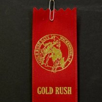 Image of Sun City General - Sun City Poms Ribbon from the Gold Rush Days Parade in Wickenburg, Arizona.  Photo by Bob McColley.
