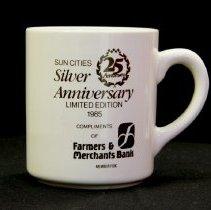 Image of Sun City General - Sun Cities 25th Anniversary mug.  Photo by Bob McColley.