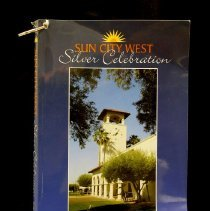 "Image of Sun City West General - ""Sun City West Silver Celebration"" book about the first twenty years in Sun City West.   Editor Edson Allen.  This book is for sale at the Sun Cities Area Historical Society for $5.00.  It can be found in the gift shop in the living room.   Photo by Bob McColley."