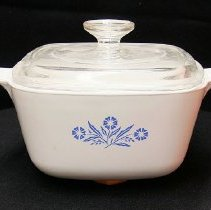 Image of 1960's Household - Corning ware two piece casserole dish.  Photo by Bob McColley.