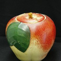 Image of 1960's Household - Apple cookie jar.  Photo by Bob McColley.  