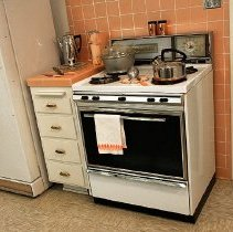 Image of 1960's Household - Gas Tappan stove.  Photo by Bob McColley.  