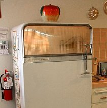 Image of 1960's Household - Frigidaire deluxe refrigerator.  Photo by Bob McColley.