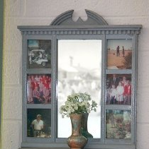 Image of 1960's Household - Picture collage display.   Photo by Bob McColley.