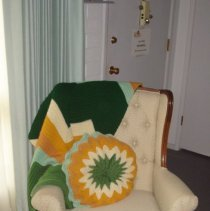 Image of 1960's Household - Wing back chair.  Deed of gift ty the Lutheran Thrift Shop in Sun City, Arizona in July 2006.  