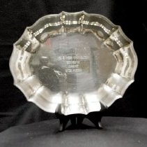 "Image of Sun City General - 10' oval tray engraved with:  ""Del E. Webb Corporation runner up 1966-67  Ruth Morton.""    Deed of gift from Ruth Morton on 8/12/02.  