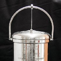 "Image of Sun City General - Sterling silver ice bucket with the inscription of:  ""Presented to Bob Myers by the Del E. Webb Development Co. for outstanding achievements during 1971.  $3,000,000 new sales. ""