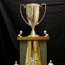 Image of Sun City General - Womens Fast Pitch Champions 1974  A.S.A. Reg. trophy.  Photo by Bob McColley.