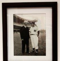 Image of Del Webb - Picture of Del E. Webb with Joe DiMaggio at New York Yankees stadium.  Del E. Webb was partial owner of the New York Yankees.   Photo by Bob McColley.