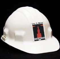 Image of Del Webb - Hard hat from the Del E. Webb Construction Company.  Photo by Bob McColley.