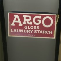 Image of Sun City General - ARGO gloss laundry starch 12 ounce box.   Directions on back of box to make heavy, medium or light starch.