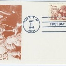 Image of Sun City Stamps, Envelopes & Programs - Aging Together envelope postmarked May 21, 1982.
