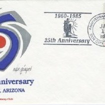 Image of Sun City Stamps, Envelopes & Programs - Sun City 25th Silver anniversary envelope by the Sun City stamp club.   25th logo done by Max Gimpel from Sun City.