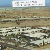 Image of Postcard - Postcard of Sun Valley Lodge, 103rd Avenue south of Grand.