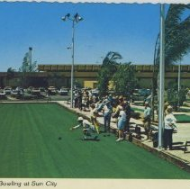 Image of Postcard - Postcard of Sundial Recreation Centers lawn bowling, date is unknown.