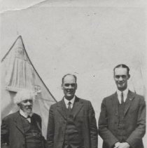 Image of Del Webb with father and grandfather - Rev. J. W. Webb, grandfather