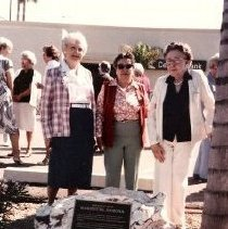 Image of Marinette - Dedication of historic site plaque - 105th & Grand Avenues