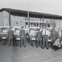 Image of Post Office - Post Office staff with Postmaster Harry Block