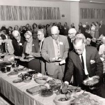 Image of Social Life/Customs - Potluck suppers always drew a big crowd