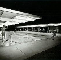 Image of Sports - General - Shuffleboard - outdoor courts lighted for night play