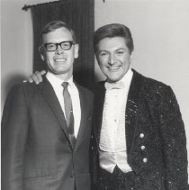 Image of Sun Bowl Celebrity Series - Liberace (L) and Jerry Svendsen, DEVCO Public Relations