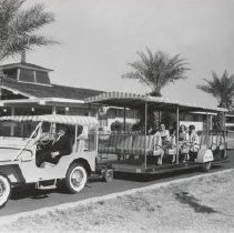 Image of Transportation - The Shoplifter - first public transportation in Sun City by DEVCO